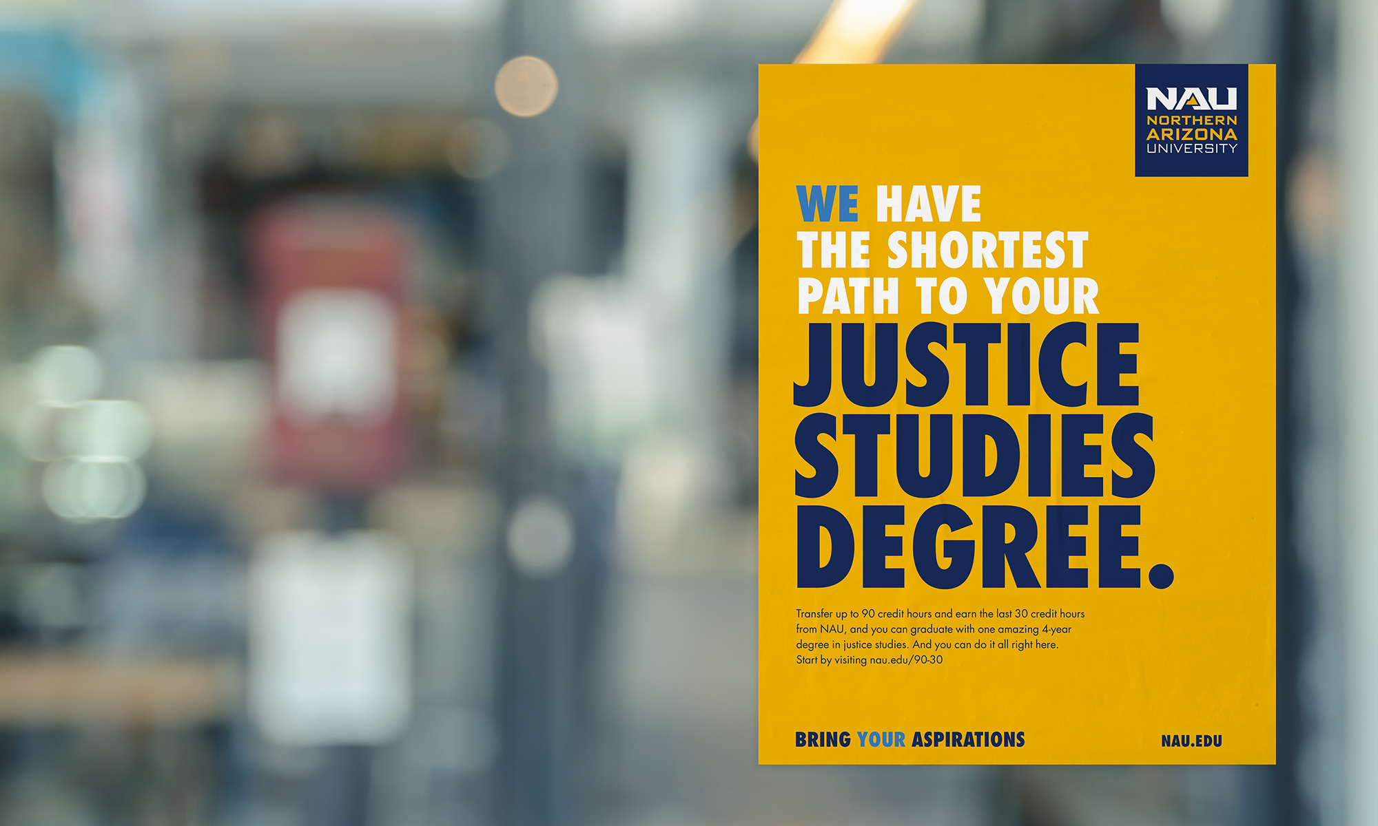 We have the shortest path to your justice studies degree.