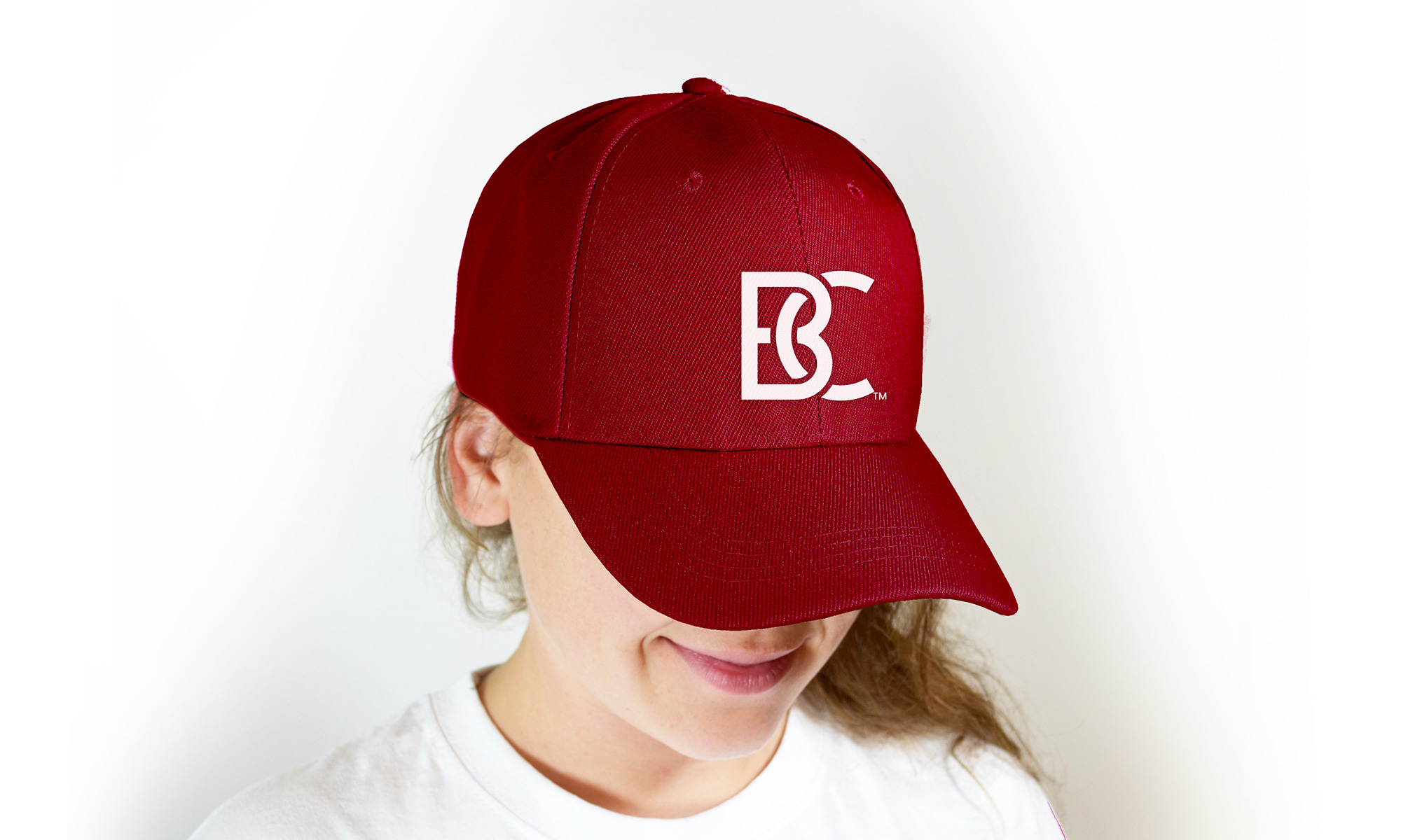 A hat with the new logo.