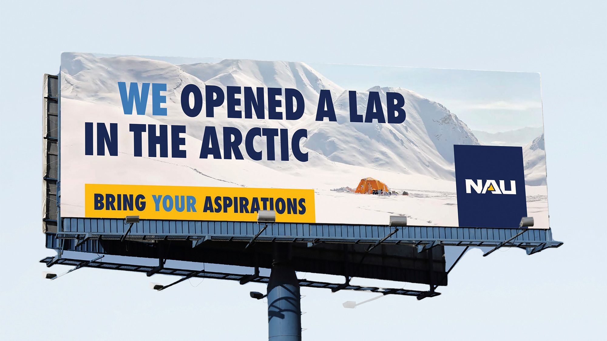 We opened a lab in the arctic.