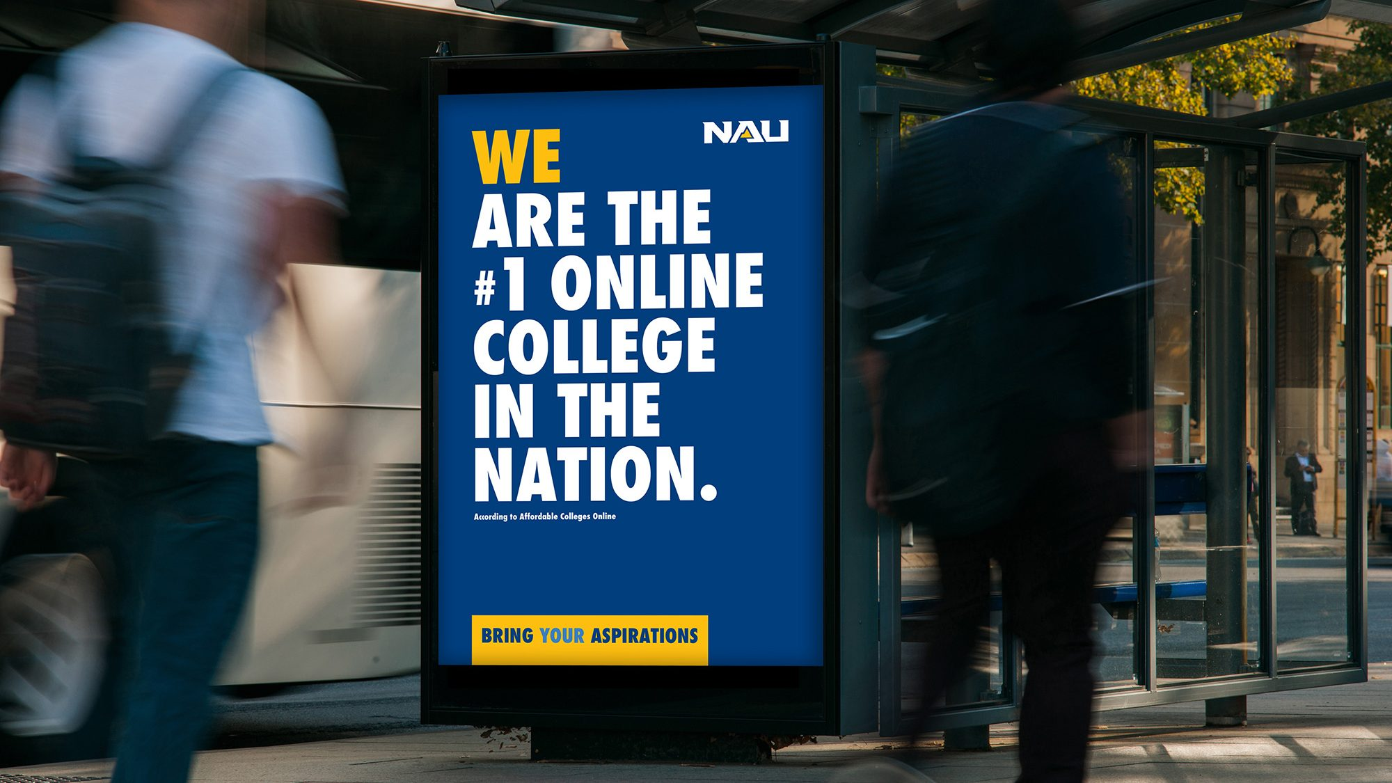 We are the number one online college in the nation.