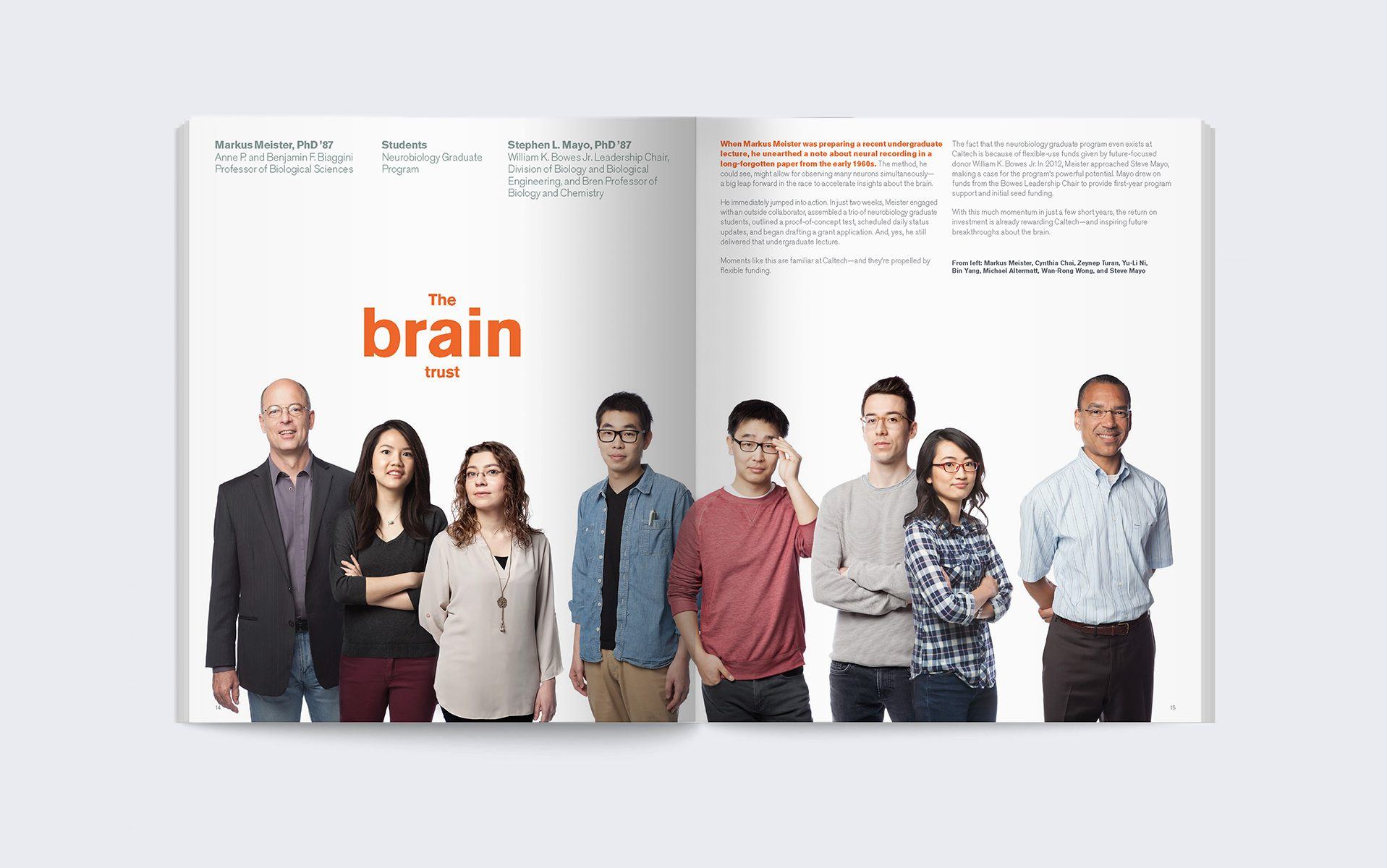 The brain trust. Photo of a multi-ethnic, age varied group of women and men scientists.