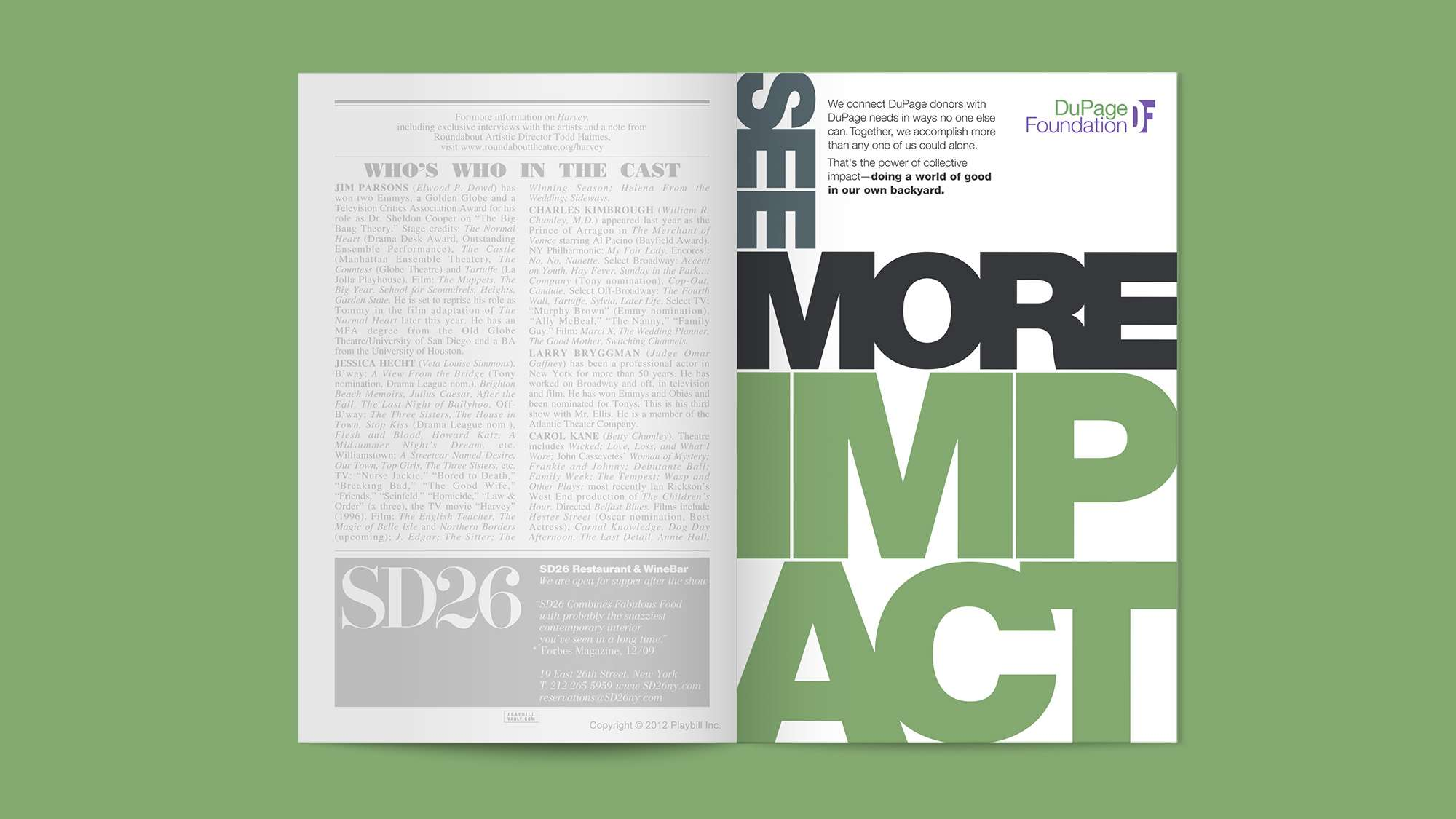 See more impact. Magazine full page ad.