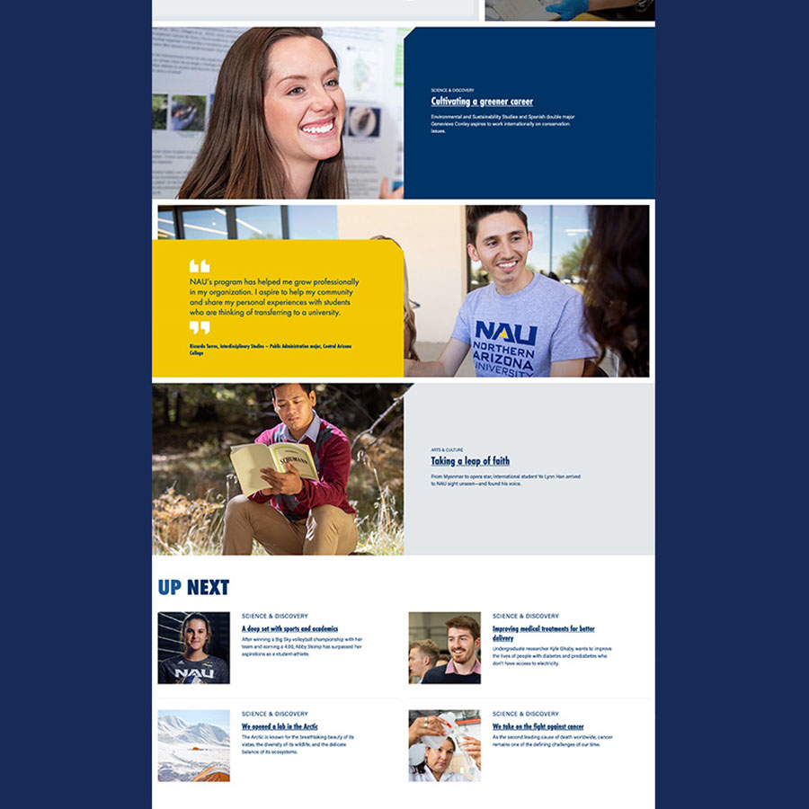 Wider view of Bring Your Aspirations website.