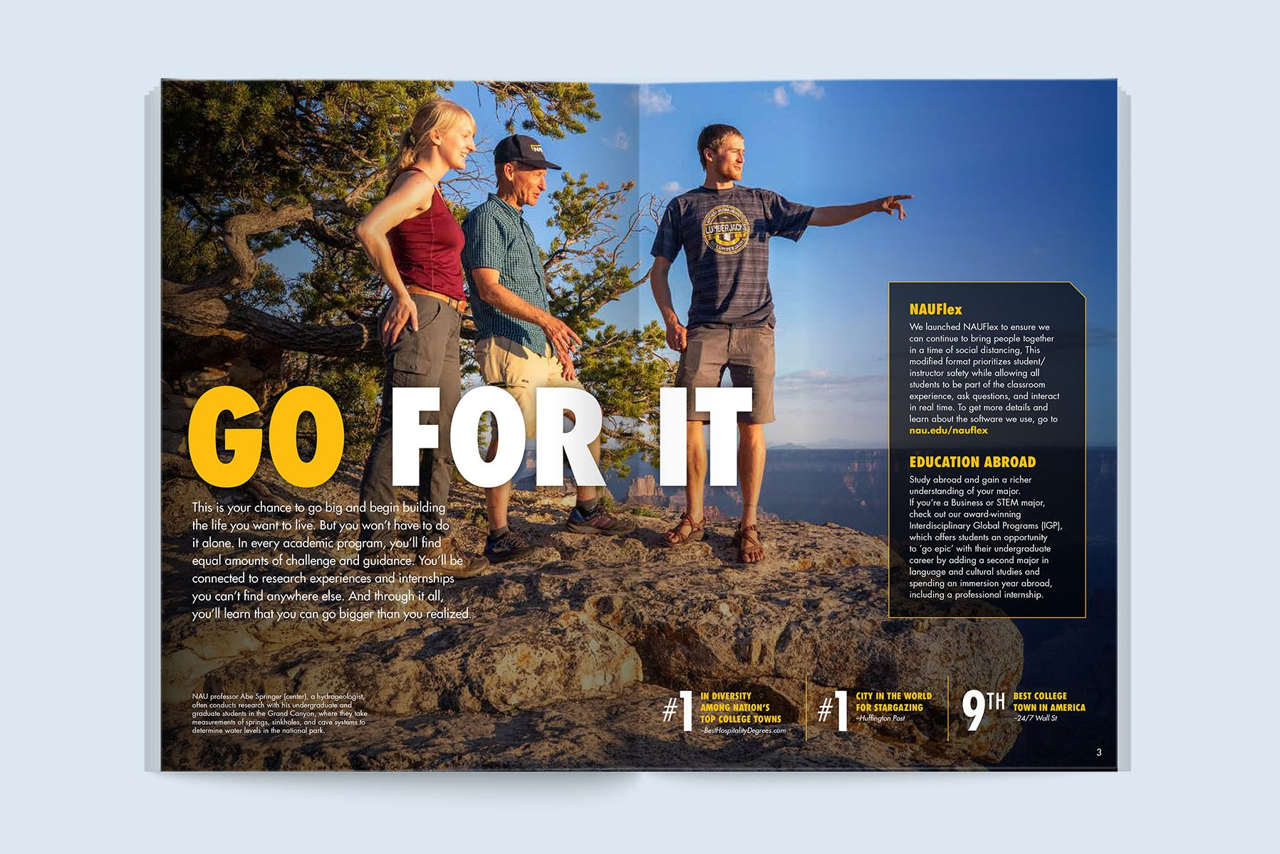 Go for it. Brochure spread.