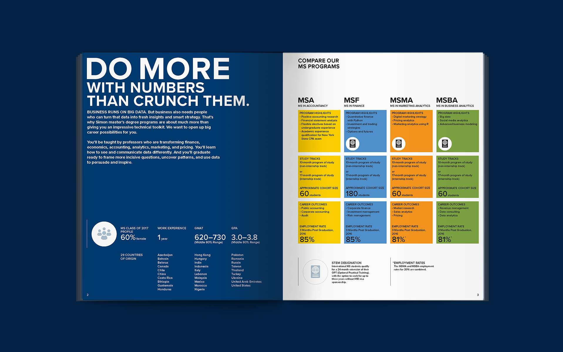 Do more with numbers than crunch them. Brochure spread.